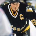 One of the greatest players in NHL history, Super Mario retired last January for the second time, citing an irregular heartbeat and recognition that the new, faster NHL had left him behind. The six-time scoring champion and first-ballot Hall of Fame inductee in 1997 won two Stanley Cups and two Conn Smythe Trophies with the Penguins, the team he bought in 1999 to rescue it from bankruptcy.