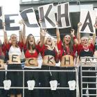 Beckham was the big draw last summer when his former club, Real Madrid, came to the U.S. for some friendlies. This girls' team from Auburn, Wash., cheered on their favorite player when Madrid played in Seattle.