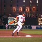 Ripken put the exclamation point on the night he surpassed Lou Gehrig's record for consecutive games played by hitting a homer in Baltimore's 4-2 victory.