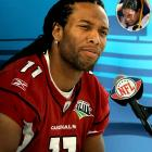 "Arizona Cardinals wide receiver Larry Fitzgerald was asked by an Access Hollywood reporter, ""Who has the better hair, you or Steelers safety Tony (sic) Polamalu?"""