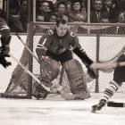 The pioneer of the butterfly style was an iron man who played in a record 502 consecutive games for Chicago. A record seven-time first-team NHL All-Star, Hall won his only Stanley Cup in 1961. Notorious for getting sick to his stomach before games, it was suggested that Hall's bucket be enshrined in the Hall of Fame, where he was inducted in 1975.