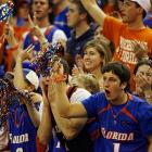 Gator fans show their support for Brett Swanson (No. 1), who has played a combined 38 minutes this season.