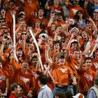 Texas fans are ready to party after the Longhorns humilated Big 12 rival Oklahoma State, 83-54, last Monday.