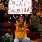 BC forward John Oates ended the game with five points, seven rebounds and one Valentine.
