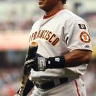 On Aug. 7, Bonds passed Aaron by blasting career home run No. 756 off Mike Bascik of the Nationals at AT&T Park. Baseball's new home run king wrapped up the season with a .276 BA, 28 homers and 66 RBI before parting ways with the Giants after 15 years. His career now in doubt, Bonds' career home run total stands at 762.