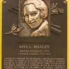 Effa Manley became the first woman elected to the National Baseball Hall of Fame. Her greatest success as owner of the Newark Eagles was when they defeated the Kansas City Monarchs in the Negro World Series in 1946.