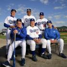 Old-time Dodgers greats Duke Snider, Carl Erskine, Clem Labine, Tommy Davis, Maury Wills and Ralph Branca reunite at Vero Beach on Feb. 8, 2007.