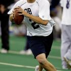 In 2004, Big Ben entered the draft as a junior and did not have the benefit of postseason All Star Games. His draft grade was heavily reliant on the combine and he did not perform well. He was inaccurate with his passes throughout his workout and as a result became the third quarterback chosen in the '04 draft.