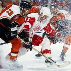 The legendary Russian defenseman was dealt by the Devils on April 4. In Detroit, he replaced the injured Mark Howe and the Wings soared to the Cup finals where they were swept by Fetisov's former team. But Fetisov later skated for Detroit's 1997 and '98 Cup-winners.
