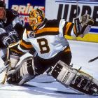 A veteran of three Cups in Edmonton, the disgruntled Moog was dealt to Boston on March 12, pairing with Reggie Lemelin to send the Bruins to the finals. The deal also benefited the Oilers, who received goalie Bill Ranford, the starter on their 1989-90 team that beat Moog's B's in the Cup finals.