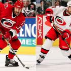 The 'Canes added Weight to their offense on Jan. 30 by giving the Blues three picks and three players, and replaced the injured Erik Cole by renting Recchi from Pittsburgh an hour before the March 9 trading deadline. Each player scored 16 postseason points as Carolina drove to its first Stanley Cup.