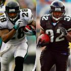 Taylor ran for 1,146 yards last year and Jones-Drew totaled 941 rushing yards and 436 receiving. Taylor just turned 31, but should have at least one more good season in him. Jones-Drew was outstanding as a rookie and should be even better in his second season.
