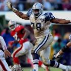 This class is distinguished because of its late-round picks. Coach Jimmy Johnson landed defensive tackle Leon Lett, left, in the seventh round and defensive back and future Super Bowl MVP Larry Brown in the 12th round. Dallas also got Pro Bowl OT Erik Williams in the third round, and DT Russell Maryland and WR Alvin Harper in the first round.
