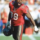 The Bucs landed two future Hall of Famers in the first round -- defensive tackle Warren Sapp and linebacker Derrick Brooks. That duo turned Tampa Bay into a perennial playoff team and helped it win Super Bowl  XXXVII.