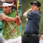 """The answer is pretty simple. Just look at Rafael Nadal, Federer's archrival, and his high level of fitness and sculpted arms, and compare him to Phil Mickelson, Woods's archrival, with his puffy face and man-breasts."""