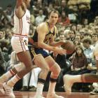 Barry is best known for the more than 25,000 points he scored during his career in the NBA and ABA, but he was also one of the best passing forwards the game has ever seen. Among his achievements: He led teams to championships in both the NBA and ABA and led both leagues in scoring. He is also one of only two players to shoot 90 percent from the free throw line for his career (along with Mark Price).