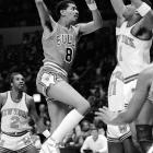There was nobody like Gervin before he came into the NBA, and there hasn't been anyone like him since he left. A four-time NBA scoring champion and 12-time All-Star in the ABA and NBA, Gervin regularly made shots nobody else would even dare attempt. When someone makes a running bank shot from a tough angle today, broadcasters shout 'til they can be heard without the microphone. That was just a regular shot for the Ice Man.