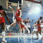 Portland joined the 1968-69 Boston Celtics as the only teams to win the NBA Finals after trailing 2-0 (the Heat became the third team in 2006). After a Game 2 loss that featured a fourth-quarter melee, the underdog Blazers ripped off four consecutive victories to seal their first and only championship. Finals MVP Bill Walton had 20 points, 23 rebounds, eight blocks and seven assists in the clincher.