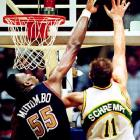 After finishing only 42-40 in the regular season and spotting Seattle a 2-0 lead in the best-of-five series, Dikembe Mutombo and Denver rallied for three straight victories (including an overtime road win in Game 5) to become the first No. 8 seed to topple a No. 1.