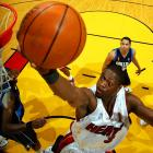 Miami looked toast after losing the first two games and trailing Dallas 89-76 in Game 3. But Dwyane Wade scored 12 of his 42 points during a game-ending 22-7 run as Miami won 98-96, the first of its four consecutive victories en route to the franchise's first championship. Wade was named Finals MVP after averaging 34.7 points, 7.8 rebounds, 3.8 assists and 2.7 steals.