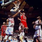 The series that gave us John Starks' electrifying baseline dunk in Game 2 ended with Chicago winning four in a row after an 0-2 start. Michael Jordan scored 54 points in Game 4 and recorded a triple-double in Game 5, the latter helping the Bulls break the Knicks' 27-game home winning streak. The Bulls proceeded to beat the Suns in the NBA Finals to complete the first of their two three-peats. Jordan announced his (first) retirement after the season.