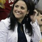 Julia Louis-Dreyfus took in Game 4 of the Pistons-Cavaliers series. We assume Puddy is sitting next to her in his face paint.