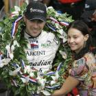 Is Dario Franchitti smiling because he won the Indianapolis 500 or because he's married to Ashley Judd?