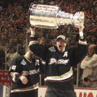Chris Pronger finally got his shot at lifting the Stanley Cup.