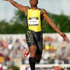 Walter Davis's jump of 8.24m placed fourth in the long jump final.
