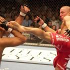 Georges St. Pierre and BJ Penn squared off in a highly anticipated battle for a shot at Matt Hughes' Welterweight Title. Penn was able to batter and bloody St. Pierre in the first round. St. Pierre came on in the second and third, showing tremendous heart and pulling out the victory.
