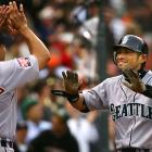 Mariners outfielder Ichiro Suzuki made All-Star Game history with a stand-up, inside-the-park home run, the first in the 78-year history of the event. Suzuki, who went 3-for-3 on the night, drove in Baltimore's Brian Roberts to give the AL a 2-1 lead.