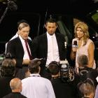Flanked by MLB commissioner Bud Selig and Fox broadcaster Jeanne Zelasko, Ichiro was named Most Valuable Player of the game. He was given a new Chevy Tahoe Hybrid for winning the award.