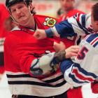 One of the most renowned fighters in NHL history, Probert served 90 days in prison after being convicted of smuggling cocaine across the U.S.-Canadian border.