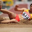 China's Yalin Chen during the long jump qualifications on Day 3.