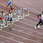 Kerron Clement had a 10-meter lead heading into the ninth hurdle and went on to win gold with a time of 47.61.