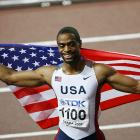 Tyson Gay eclipsed fellow American Michael Johnson's 12-year-old championship record by .03 seconds after winning the Men's 200-m final in 19.76 sec. Gay won the 100-m title as well, becoming only the third man in history to win the world championship sprint double.