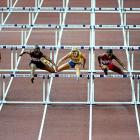 Michelle Perry (986) won gold in the 100-meter hurdles.