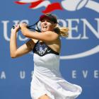 Reigning champion Maria Sharapova was a stunning third-round loser Saturday, as rising Polish star Agnieszka Radwanska dismissed the second-seeded Russian superstar, who wound up with 49 unforced errors, in three sets.