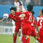 """North Korea coach Kim Kwang-min after his team's 2-2 tie with the U.S: """"I think the U.S. is the best in the world, but today they didn't perform to their maximum."""""""
