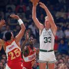 """Both players made it cool again to pass the ball. Bird was a prototype """"point forward,'' averaging at least 5.5 assists, and as many as 7.6, in 11 of his 13 seasons. Because of the way he involved teammates, Boston icon Red Auerbach once said: ``If I had to start a team, the one guy in all of history I would take would be Larry Bird.'' OK, so Auerbach -- the guy who drafted Bird -- basically was patting himself on the back. But the cigar-chomping Celtics architect also landed Bill Russell back in 1956."""