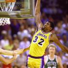 """Johnson averaged an NBA-best 12.3 assists in 13 seasons, one of only two men to stay in double figures across his full career (Utah's John Stockton, at 10.1, is second). He also had 138 triple-doubles, second only to Oscar Robertson, and was like a fighter pilot in full control of his weaponry whenever he took an outlet pass. Said Bird: """"I had never seen a man who was 6-9 handle the ball like he did, pass the ball, take it to the rim, and he could rebound. He was a one-man fast break.''"""