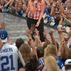 Begun in New York City in 2002 with Bon Jovi headlining, the annual event can be found in the city that hosts each season's opening game. This year, Kelly Clarkson, John Mellencamp, Faith Hill and Hinder rocked Indianapolis before the Colts took on the Saints.