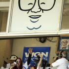 What would sports be without music? A lot more quiet, and a lot less fun., The communal singing of baseball's official theme song, written in 1908 by Jack Norworth and Albert Von Tilzer, has been a seventh-inning tradition since 1976, thanks to broadcaster Harry Caray, who led the crowd with his distinctive croak.