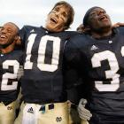 """The greatest and most famous of all college fight songs, it was written in 1908 by alumni brothers Michael and John Shea. The exhortation to """"Cheer, cheer for old Notre Dame"""" has been heard at Fighting Irish sports events since 1919."""