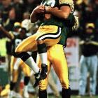 After leaving the San Francisco dynasty to assemble a contender of his own, Green Bay coach Mike Holmgren hosted his former employer in a Monday Night Football classic. The eventual Super Bowl champs needed some Brett Favre heroics on a late scoring drive to force overtime -- but Chris Jacke's field goal from 53 yards proved the difference-maker in a 23-20 victory.