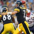 The Patriots watched their incredible 21-game winning streak (including three postseason games) come to an end at the hands of rookie quarterback Ben Roethlisberger and the resurgent Steelers. Big Ben drove the Pittsburgh offense to four scores in a surprisingly easy 38-20 victory -- but the Patriots would get the last laugh in the AFC Championship Game.