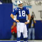 Peyton Manning fumbled on third down in each of the Colts' final two drives of the game.