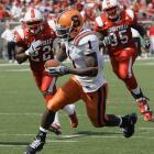 Syracuse -- a 36 1/2-point underdog -- ended Louisville's 20-game home-winning streak and completely exposed the horrendous defense that would haunt the Cardinals all season long. This astonishing triumph ended up being one of two wins for the '07 Orange.