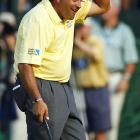 Argentina's Angel Cabrera won his first U.S. Open by a stroke over Jim Furyk and Tiger Woods, becoming only the second South American to win a major.