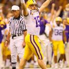 After Ohio State trimmed the lead to 31-17, LSU quarterback Matt Flynn responded with his fourth touchdown pass of the evening. Flynn would go on to be named Offensive MVP after completing 19-of-24 passes for 174 yards and four TDs.